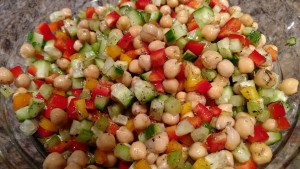 chickpea salad protein